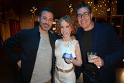 "Jimmy Kimmel, Kathy Griffin and Adam Carolla attend the ""Crank Yankers"" 2019 Premiere Party at Two Bit Circus on September 24, 2019 in Los Angeles, California."
