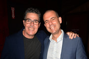 "Adam Carolla and Paul Mcginnis attend the ""Crank Yankers"" 2019 Premiere Party at Two Bit Circus on September 24, 2019 in Los Angeles, California."
