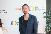 Steve Howey attends the Creative Coalition's Annual Television Humanitarian Awards Gala 2019 at Ocean Prime on September 21, 2019 in Beverly Hills, California.