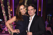 Ingrid Vandebosch and Jeff Gordon attend Creatures Of The Night Late-Night Soiree Hosted By Chopard And Champagne Armand De Brignac at The Setai Miami Beach on December 5, 2017 in Miami Beach, Florida.