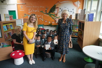 Cressida Cowell The Duchess Of Cornwall Attends Literacy Engagements In London