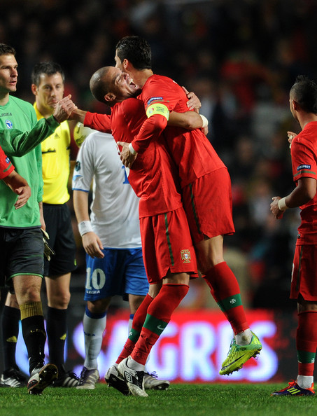 Cristiano Ronaldo At The End Of The Portugal And Bosnia  EURO 2012