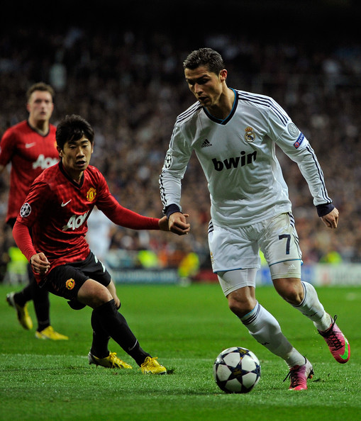 Liverpool Barcelona V S Man Unt Real Madrid: Cristiano Ronaldo And Shinji Kagawa Photos Photos