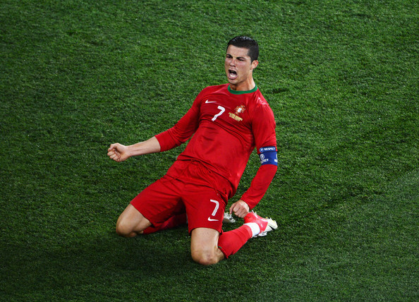 Celebrates Scoring His Team S Second Goal During The UEFA EURO 2012