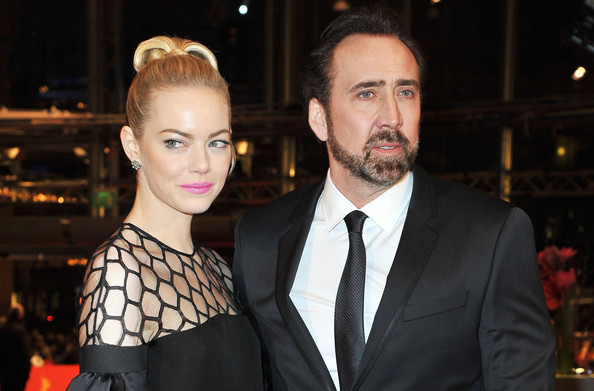 Emma Stone and Nicolas Cage attend the 'The Croods' Premiere during the 63rd Berlinale International Film Festival at Berlinale Palast on February 15, 2013 in Berlin, Germany.