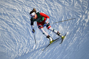 Maiken Caspersen Falla of Norway competes during the Cross Country Ladies' Team Sprint Free semi final on day 12 of the PyeongChang 2018 Winter Olympic Games at Alpensia Cross-Country Centre on February 21, 2018 in Pyeongchang-gun, South Korea.