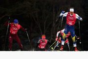 Marcus Hellner of Sweden (16-1) competes during the Cross Country Men's Team Sprint Free semi final on day 12 of the PyeongChang 2018 Winter Olympic Games at Alpensia Cross-Country Centre on February 21, 2018 in Pyeongchang-gun, South Korea.