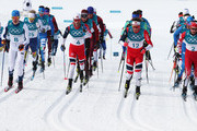 Iivo Niskanen of Finland, Martin Johnsrud Sundby of Norway, Emil Iversen of Norway, Alex Harvey of Canada compete during the Men's 50km Mass Start Classic on day 15 of the PyeongChang 2018 Winter Olympic Games at Alpensia Cross-Country Centre on February 24, 2018 in Pyeongchang-gun, South Korea.