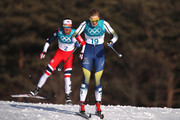 Stina Nilsson of Sweden competes during the Ladies' 30km Mass Start Classic on day sixteen of the PyeongChang 2018 Winter Olympic Games at Alpensia Cross-Country Centre on February 25, 2018 in Pyeongchang-gun, South Korea.