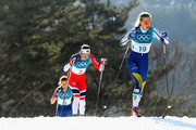 Stina Nilsson of Sweden (19) competes during the Ladies' 30km Mass Start Classic on day sixteen of the PyeongChang 2018 Winter Olympic Games at Alpensia Cross-Country Centre on February 25, 2018 in Pyeongchang-gun, South Korea.