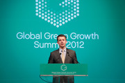 THR Prince Frederik of Denmark speaks at the Global Green Growth Summit at the Lotte Hotel on May 11, 2012 in Seoul, South Korea. The Crown Prince and Crown Princess of Denmark are on a six-day visit to South Korea.