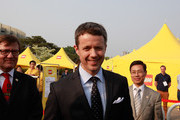Prince Frederik of Denmark visits at the Lego World tower Korea event at the Seoul Olympic Stadium on May 13, 2012 in Seoul, South Korea. The Crown Prince and Crown Princess of Denmark are on a six-day visit to South Korea.