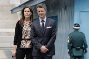 THR Prince Frederik of Denmark and Crown Princess Mary of Denmark visit the border village of panmunjom between South and North Korea in the demilitarized zone (DMZ) on May 13, 2012, South Korea.