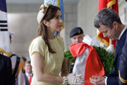 THR Prince Frederik of Denmark and Crown Princess Mary of Denmark burn incense during a visit at the War Memorial of Korea on May 10, 2012 in Seoul, South Korea. The Crown Prince and Crown Princess of Denmark are on a six-day visit to South Korea.