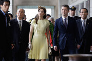 THR Crown Prince Frederik of Denmark and Crown Princess Mary of Denmark visit the War Memorial of Korea on May 10, 2012 in Seoul, South Korea. The Crown Prince and Crown Princess of Denmark are on a six-day visit to South Korea.