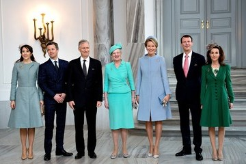 Crown Prince Frederik King Philippe and Queen Mathilde Visit Denmark - Day 1