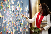 Crown Princess Mary of Denmark  looks around the installations at the exhibition 'H.C. Andersen and Copenhagen', which is co-hosted by Seoul Museum of History and Odense City Museum, on May 21, 2019 in Seoul, South Korea. Crown Prince and Princess of Denmark are visiting South Korea to celebrate the 60th anniversary of the establishment of diplomatic ties between the two countries.