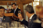 South Korean Prime Minister Lee Nak-yeon gives a speech at a Banquet he hosts for Crown Prince Frederik, Crown Princess Mary of Denmark on May 20, 2019 at the prime minister's official residence in Seoul, South Korea. Crown Prince and Princess of Denmark are visiting South Korea to celebrate the 60th anniversary of the establishment of diplomatic ties between the two countries.