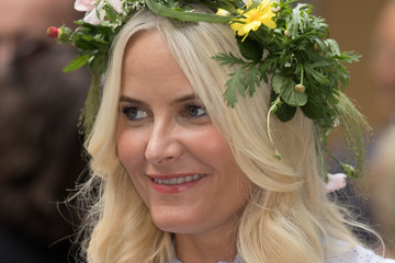 Crown Princess Mette-Marit of Norway Norwegian Royal Silver Jubilee Tour - Visit to Trondheim