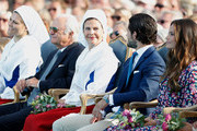 Crown Princess Victoria of Sweden, King Carl Gustaf of Sweden, Queen Silvia of Sweden, Prince Carl Philip of Sweden and  Princess Sofia of Sweden during the occasion of The Crown Princess Victoria of Sweden's 41st birthday celebrations at Borgholm Sports Arena on July 14, 2018 in Oland, Sweden.
