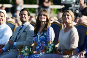 Queen Silvia of Sweden, Prince Carl Philip of Sweden, Princess Sofia of Sweden, Princess Madeleine of Sweden are seen on the occasion of The Crown Princess Victoria of Sweden's 42nd birthday celebrations on July 14, 2019 in Oland, Sweden.