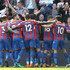 Andros Townsend Wilfried Zaha Photos - Wilfried Zaha of Crystal Palace celebrates with teammates after scoring his sides first goal during the Premier League match between Crystal Palace and Brighton and Hove Albion at Selhurst Park on April 14, 2018 in London, England. - Crystal Palace vs. Brighton And Hove Albion - Premier League