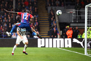 Mamadou Sakho of Crystal Palace misses a chance during the Premier League match between Crystal Palace and Newcastle United at Selhurst Park on September 22, 2018 in London, United Kingdom.