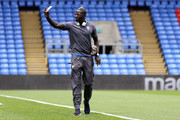 Mamadou Sakho of Crystal Palace arrives at the stadium prior to the Premier League match between Crystal Palace and West Bromwich Albion at Selhurst Park on May 13, 2018 in London, England.