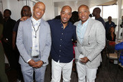 Russell Simmons, Datwon Thomas and Kevin Liles attend Culture Creators 2nd Annual Awards Brunch Presented By Motions Hair And Ciroc at Mr. C Beverly Hills on June 24, 2017 in Beverly Hills, California.