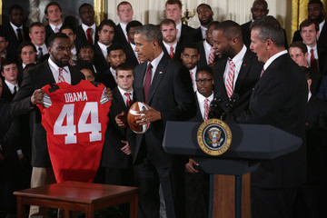 Curtis Grant Obama Welcomes National Champion Ohio State University Buckeyes To White House
