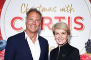 Julie Bishop and David Panton attend the Coles Christmas media event at Three Blue Ducks on October 15, 2019 in Sydney, Australia.
