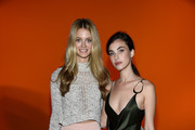Kate Bock and Rainey Qualley attend the Cushnie front row during New York Fashion Week: The Shows at Gallery I at Spring Studios on February 8, 2019 in New York City.