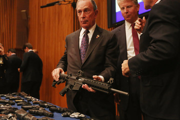 Cy Vance Mayor Bloomberg And NYPD Chief Ray Kelly Make Announcement