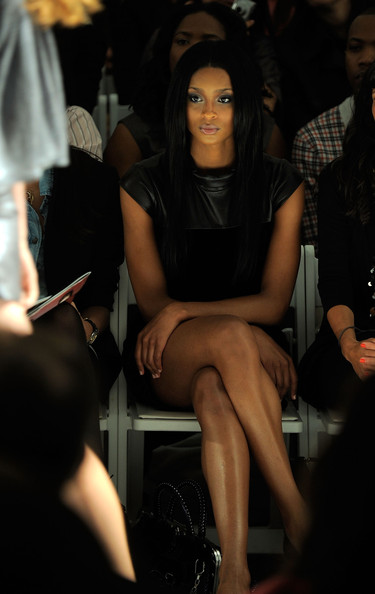 Ciara attends the Cynthia Steffe Spring 2010 Fashion Show at the Salon at Bryant Park on September 11, 2009 in New York, New York.