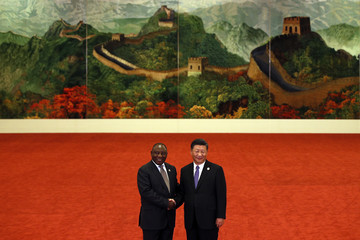 Cyril Ramaphosa 2018 Beijing Summit Of The Forum On China-Africa Cooperation - Welcoming Ceremony