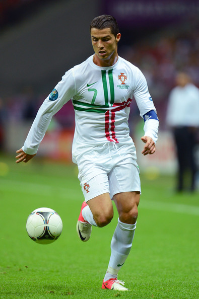 Cristiano Ronaldo Of Portugal Runs With The Ball During The UEFA EURO