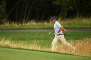 Matteo Manassero of Italy runs up the back of 3rd green during Day Two of D+D REAL Czech Masters at Albatross Golf Resort on August 24, 2018 in Prague, Czech Republic.