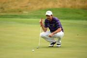 Thomas Aiken of South Africa prepares to play a putt on 12th green during Day Two of D+D REAL Czech Masters at Albatross Golf Resort on August 24, 2018 in Prague, Czech Republic.