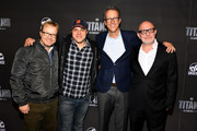 Titans Executive Producers (L-R) John Fawcett, Geoff Johns, Greg Walker and Akiva Goldsman attend DC UNIVERSE's Titans World Premiere on October 3, 2018 in New York City.