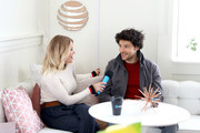 Carrie Keagan interviews Colin Morgan at the DIRECTV Lodge presented by AT&T during Sundance Film Festival 2018 on January 21, 2018 in Park City, Utah.