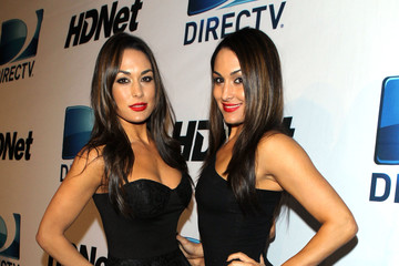 Brie Bella DIRECTV And Mark Cuban's HDNet Super Bowl Party - Red Carpet