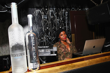 DJ Olivia Dope Janelle Monae Celebrates 'Dirty Computer' Tour After-Party With Belvedere Vodka At GoldBar