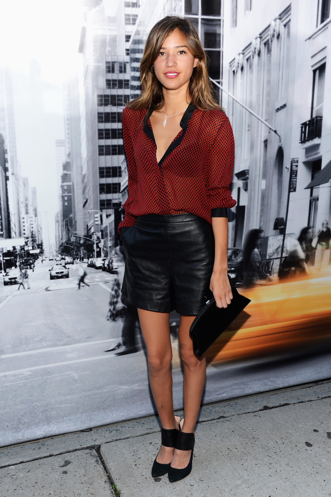 Kelsey chow in dkny women 39 s front row spring 2013 for Mercedes benz women s jacket