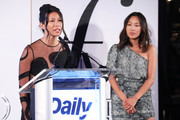 Raissa Gerona and Aimee Song speak on stage at The Daily Front Row's 7th annual Fashion Media Awards on September 05, 2019 in New York City.