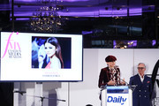 Zendaya and Tommy Hilfiger speak on stage at The Daily Front Row's 7th annual Fashion Media Awards on September 05, 2019 in New York City.