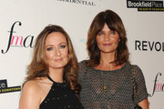 Editor-in-Chief of Net-a-Porter Lucy Yeomans (L) and model Helena Christensen attend The Daily Front Row's Third Annual Fashion Media Awards at the Park Hyatt New York on September 10, 2015 in New York City.