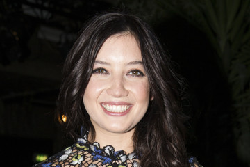 Daisy Lowe Front Row at London Fashion Week