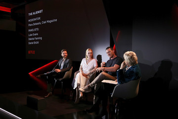 Dakota Fanning Luke Evans Netflix See What's Next Event In Rome
