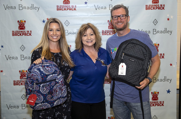 Vera Bradley X Blessings In A Backpack Event With Dale And Amy Earnhardt