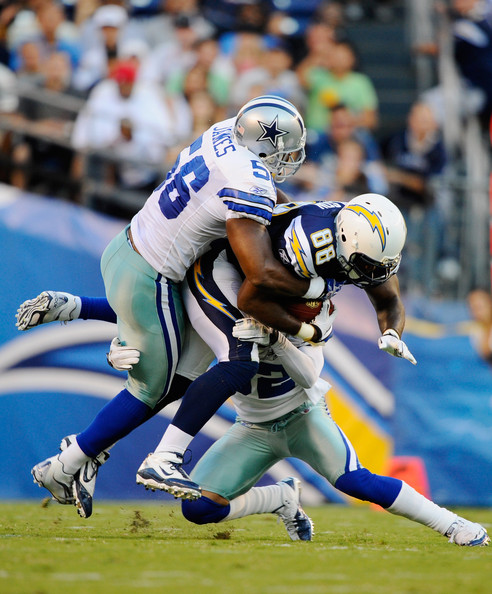 San Diego Chargers Dallas Cowboys: Bradie James In Dallas Cowboys V San Diego Chargers